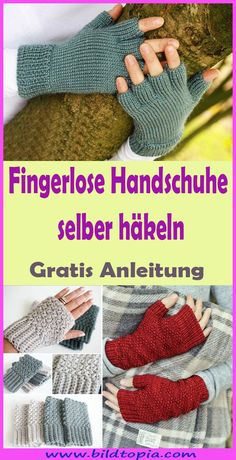 p/fingerlose-handschuhe-hakeln-kostenlose-einfache-anleitung - The world's most private search engine Boyfriend Crafts, Yarn Tail, Circular Knitting Needles, Waxed Canvas, Valentine's Day Diy, Stitch Markers, Valentines Diy, Easy Projects, Hand Warmers
