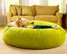 1b1e1e10b2 Giant Beanbag Chair...pretty sure I need one of these in gray or