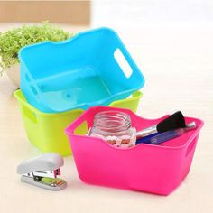 <Click Image to Buy>  Housekeeping 1pcs Creative  Plastic Office Desktop Storage Boxes Makeup Organizer Storage Box               dec13 ~  #HomeStoragenOrganization