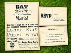 Wedding Invitation and RSVP Card Suite - Vintage Rustic Elegant Gold Steampunk Old Fashioned Customizable Double Sided DIY Printable. $25.00, via Etsy.