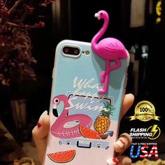 Cute 3D Cartoon Relief Flamingo Soft TPU Silicone Case For Apple iPhone 8 7 Plus | Cell Phones & Accessories, Cell Phone Accessories, Cases, Covers & Skins | eBay!