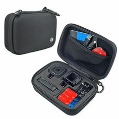 CamKix Camera and Accessory Case for GoPro / Session Cameras - Ideal for Travel or Storage - Complete Protection - Perfect Fit - Carabiner and Microfiber Cleaning Cloth Included Gopro Case, Camera Gear, Camera Case, Photo Accessories, Camera Accessories, Gopro Hero 5, Photo Bag, Photo Equipment, Cameras For Sale