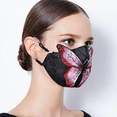 Mouth Mask Fashion, Fashion Face Mask, Diy Mask, Diy Face Mask, Face Masks, New Fashion Trends, Diy Fashion, Masque Anti Pollution, Crochet Mask