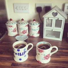 "Katie on Instagram: ""Good Morning, I'm starting the day by using my rose and bee mug for the first time!! #emmabridgewater #roseandbee #30yearsofEB #kitchen #next #nextofficial #nexthome #teahouse #dunelm #taylorwimpey"""