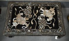 ~ An Early 20th Century Chinese Mother of Pearl Inlaid Low Table ~ new.liveauctioneers.com