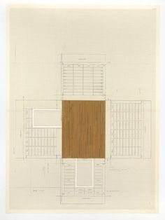 Rachel Whiteread - Installation Drawing for Untitled