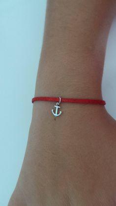 bracelet en suédine avec breloque ancre marine de la boutique MGNDcrea sur Etsy