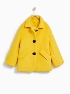 Image 1 of BUTTONED JACKET from Zara Zara Fashion, Kids Fashion, Fashion Outfits, Zara Kids, Kid Styles, Zara Home, Jacket Buttons, Kids Wear, Winter Coat