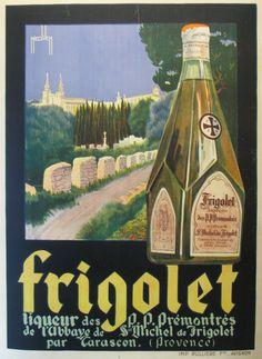 Frigolet Nicolitch France - imp. Rulliere Avignon 63 x 47 in (160 x 119 cm) $700 vintage poster, interior design, art, typography and design at www.postermuseum.com