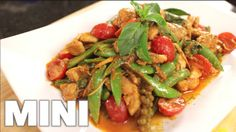 Chicken Red Curry Stir-Fry (pad ped gai) recipe from Hot Thai Kitchen