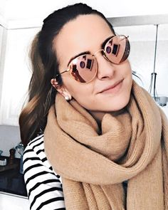 As seen in my Insta story...  Loving my new Rose Gold Ray Bans!  Sunglasses are one of those things I like to change up often and @shopditto has made it so much easier on my wallet!  You can swap out designer sunnies that you hand pick monthly using their service -  Try out your first pair free using my code 'THESTYLEDPRESS'  PS: if you're interested in my scarf it's from @ilymix  ('taymbrown20' for 20% off) || http://liketk.it/2q0jn @liketoknow.it #liketkit