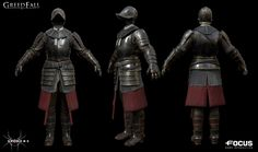 the characters made for the GreedFall video game . Character Inspiration, Character Art, Character Design, Fantasy Armor, Medieval Fantasy, Armor Clothing, Armor Concept, Conquistador, Fantasy World