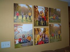 My canvas grouping! 3- 16x20's and 3- 16x16's. Fits my wall great!