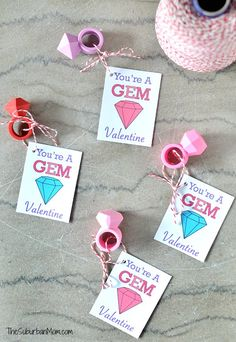 Kids Valentines Cards: You're A Gem (Printable)
