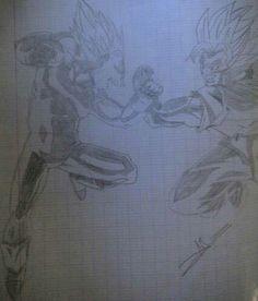 Vegeta SS2 VS Goku SS2