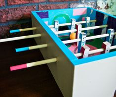 Mini Wooden Foosball Box Project!
