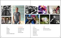 Overall Design: I really like how the table of contents shows a variety of different pictures thought the year and incorporates everyone. It shows diversity