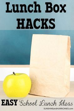Looking for some easy school lunch ideas that go beyond the sandwich? If you're like me and most other busy moms, we don't have time for cut-outs, bento boxes and other fancier lunch fare. I've come up with a few short-cut lunch ideas that are kid friendly and super quick and easy. Lunch Box Hacks - Easy School Lunch Ideas. SunshineandHurricanes.com