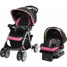 Car Seat Click Connect Travel System Fold Stroller Infant Lightweight Baby Comfy Product Description: This comfy cruiser click connect travel system makes it easy and convenient to get out with your l Toddler Car Seat, Car Seat And Stroller, Baby Car Seats, Toddler Stroller, Strollers For Dolls, Baby Strollers, Double Strollers, Pink Prams, Strollers At Disney World