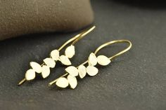 Leaves earrings, Everyday Earrings, Gold Plated Earrings, ,Antique Earrings, Statement Earrings, Gift for her, Woman earrings, Errings ,EG34