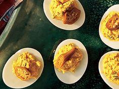 Creole Deviled Eggs | Browse our best ideas for appetizers to get your party planning started. Everyone knows the best parties are the ones with the best food, so pick a variety of appetizer options ranging from stunning hors d'oeuvres to the perfectly crafted (and super easy!) cheese plate. Plan to serve a range of appetizer recipes, baked appetizers, chilled appetizers, and even grilled appetizers, so that you have a constant rotation of platters at the ready, and that there's no back up…