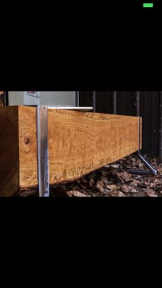 "Solid log that had been knocked over by the Essa tornado last June on a brushed steel custom welded base. 60"" long 17"" tall and the log is 10"" x 10"". Price includes delivery to Toronto/GTA, cottage country, Collingwood, Barrie"