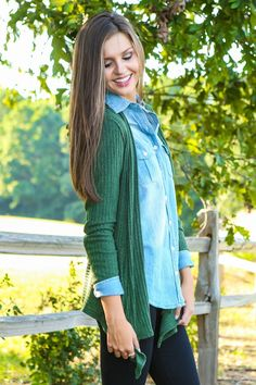 Harvest Gathering Cardigan-Olive - New Today   The Red Dress Boutique