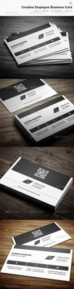 Buy Creative Employee Business Card - 03 by bouncy on GraphicRiver. Business card – perfect for any idustry. x with bleed) 300 DPI CMYK Print Ready! Find Fonts, Name Badges, Badge Design, Print Templates, Business Cards, Cards Against Humanity, Forget, Inspire, Icons