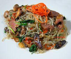 Korean Noodles Japchae