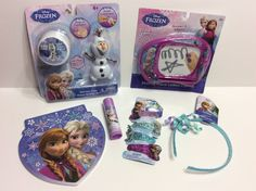 Disney Frozen Ana Elsa Olaf Gift Set Lot Draw Hair Clips Toys Stocking Birthday #Disney