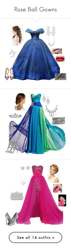 """""""Rose Ball Gowns"""" by nelliedate ❤ liked on Polyvore featuring Bebe, Chanel, Anne Sisteron, Kate Spade, Givenchy, Giuseppe Zanotti, Bao Bao by Issey Miyake, Bling Jewelry, BIBI VAN DER VELDEN and Kate Marie"""