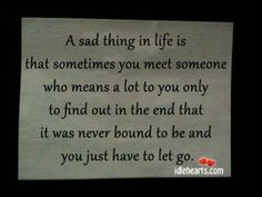 A sad thing in life