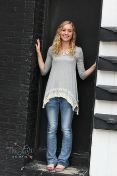 What a beautiful top and versatile too...  great with jeans but would be adorable with leggings & boots for fall!  #ishoptheloft #fashion #nowtrending #style #ootd #mystyle #boutiquelove #trendy #shopsmall #follow