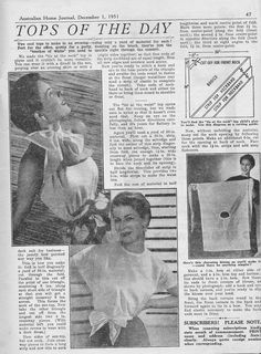 A blouse in a day, exactly the same pattern as the one in my 20s folder but with 50s photos.