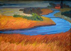 Marianne von Werefkin - River Prerow, 1911 at Lenbachhaus Art Gallery Munich Germany