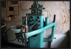 Old school aqua dental equipment.