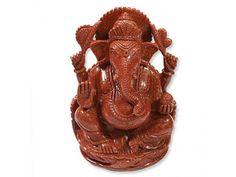 Ganesha in Red Sunstone, Buy Ganesha in Red Sunstone online from India.