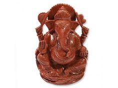 Ganesha in Red Sunstone, Buy Ganesha in Red Sunstone online from India.