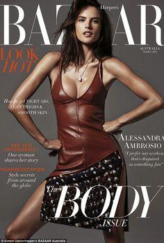 Alessandra Ambrosio stunning on the cover of Harper's Bazaar Australia October 2014