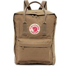 Fjallraven Kanken Backpack ($81) ❤ liked on Polyvore featuring bags, backpacks, sand, fjallraven daypack, fjallraven bag, fjallraven rucksack, wrap bag and patch backpack