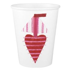 Loveheart Boat Paper Cup - Saint Valentine's Day gift idea couple love girlfriend boyfriend design