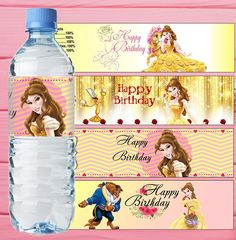 Belle Inspired Water Bottle Label Beauty and the Beast Bottle Label Princess Belle Water Bottle Label Belle Birthday Party Belle Party Decor INSTANT DOWNLOAD!!! We accept payment via PayPal ONLY! SHIPPING/DELIVERY No shipping required as this is a digital image for instant