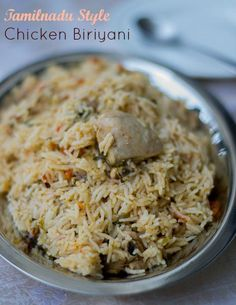 Thahira's Tamilnadu Style Chicken Biriyani, Muslim Chicken Biryani Veg Recipes, Indian Food Recipes, Chicken Recipes, Cooking Recipes, Indian Snacks, Indian Appetizers, Indian Foods, Noodle Recipes, Cooking Tips