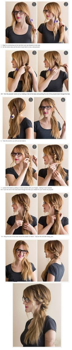 Easy solution to boring ponytail