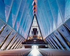 The organ of the United States Air Force Academy Cadet Chapel, Colorado Springs. Architects: Walter Netsch / Skidmore, Owings and Merrill. | www.eklectica.in #eklectica