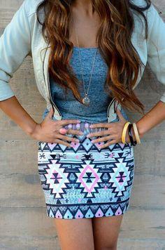 Aztec skirt♥