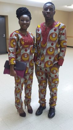 Want to slay together as an African couple? Check out these super gorgeous husband and wife matching ankara styles for inspirations. Couples African Outfits, Couple Outfits, African Attire, African Wear, African Women, African Dress, African Clothes, African Style, African Inspired Fashion
