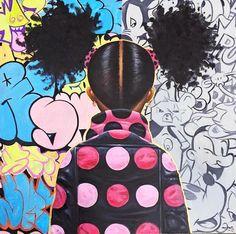 Graffiti Pop and Locks Art Print, Limited Edition by Frank Morrison Black Love Art, Black Girl Art, Art Girl, Black Girls, African American Artist, American Artists, African Art, African Paintings, Frank Morrison Art