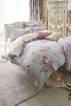 Bedroom Decor Next elegant hydrangea cotton sateen print bed set from next | for the