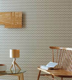 Interior Design Classic, Retro | Lace Wallpaper by Scion | Jane Clayton